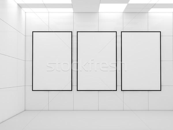 Poster modern iç lambalar 3D Stok fotoğraf © user_11870380