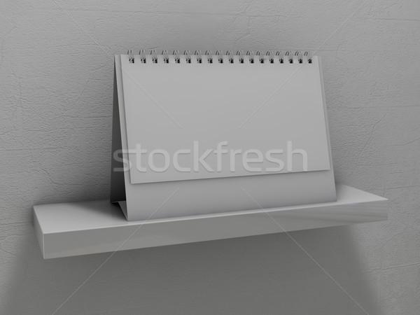 Photo stock: Calendrier · plateau · 3D · bureau · design