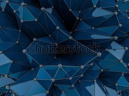 аннотация геометрический футуристический технологий стиль 3D Сток-фото © user_11870380
