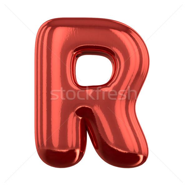 Opblaasbare brieven alfabet 3D partij Stockfoto © user_11870380