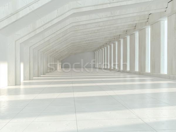 Witte architectuur abstract bouwkundig interieur 3D Stockfoto © user_11870380