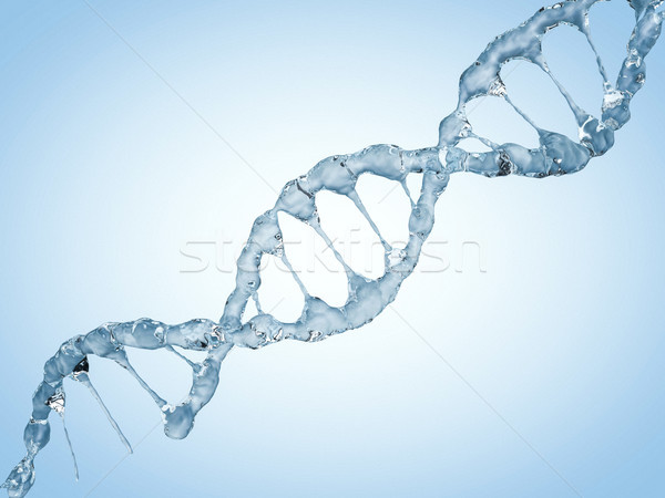 диагональ ДНК цепь воды 3D Сток-фото © user_11870380