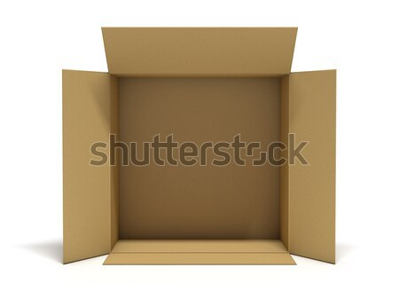 Karton pakket vak 3D Stockfoto © user_11870380