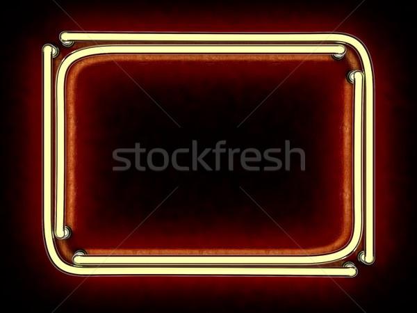 Moderne retro billboard plaats tekst 3D Stockfoto © user_11870380