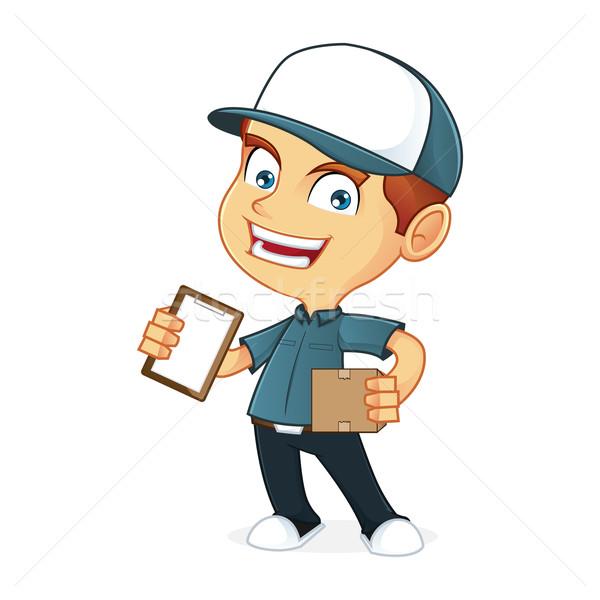 Cartoon ilustracja człowiek sztuki polu Zdjęcia stock © user_8928535