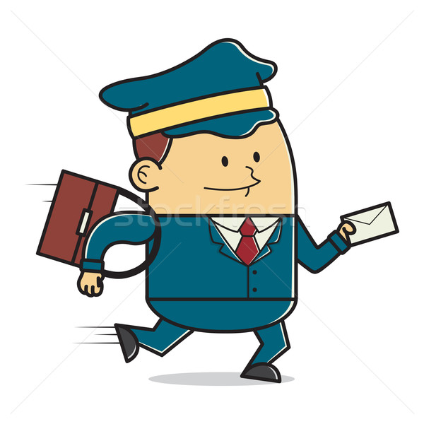 Mailman posting a letter Stock photo © user_8928535