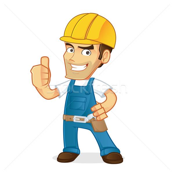 Złota rączka cartoon ilustracja pracy tle pracownika Zdjęcia stock © user_8928535