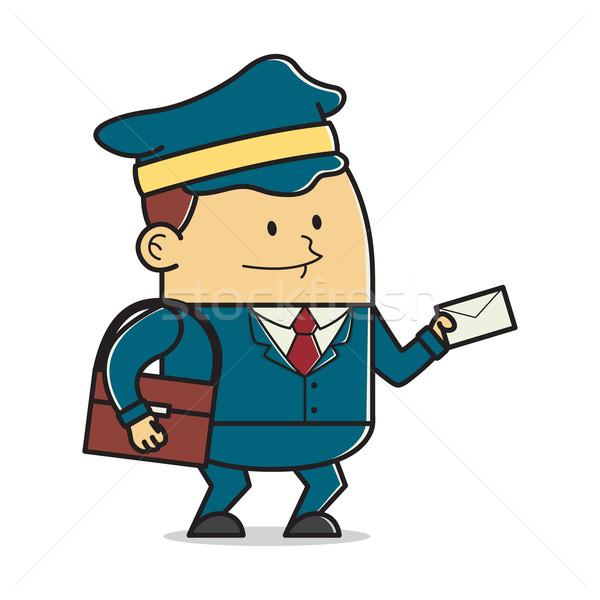 почтальон письме служба счастливым искусства работник Сток-фото © user_8928535