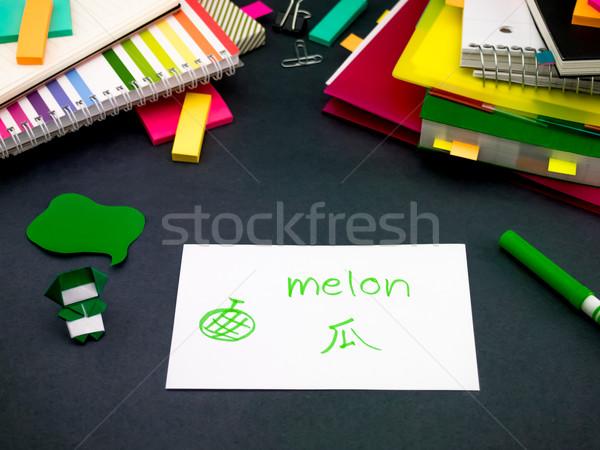 Aprendizaje nuevos idioma original flash Foto stock © user_9323633