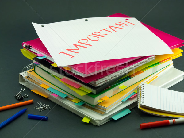 The Pile of Business Documents; Important Stock photo © user_9323633