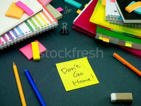 Bericht werken bureau home business papier Stockfoto © user_9323633