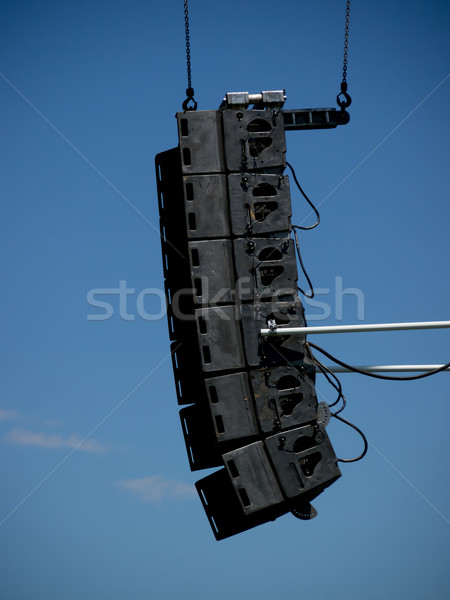 Lighting And Sound Equipment at the Music Festival Stock photo © user_9323633
