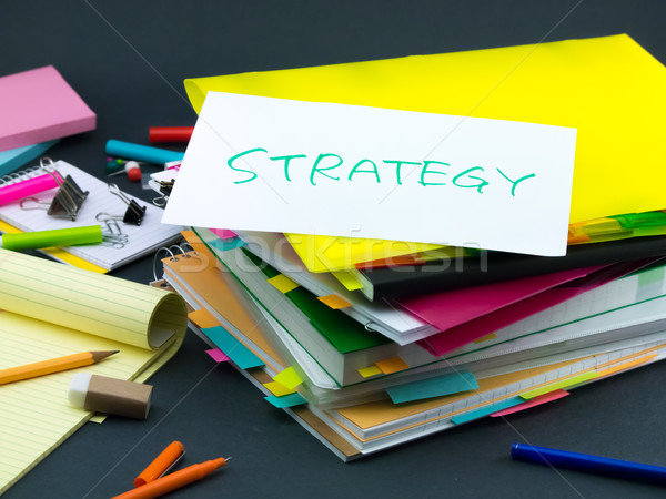 Negocios documentos estrategia oficina libro Foto stock © user_9323633