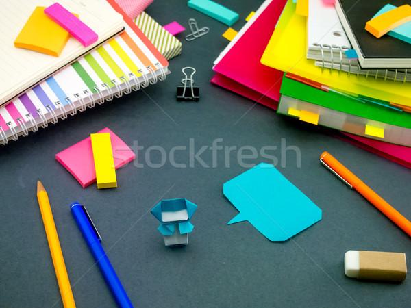 Weinig origami helpen werk slapen papier Stockfoto © user_9323633