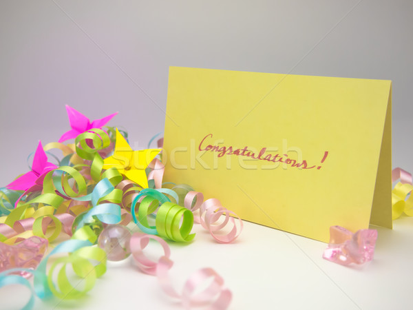 Masaje tarjeta felicitaciones mensaje familia amigos Foto stock © user_9323633