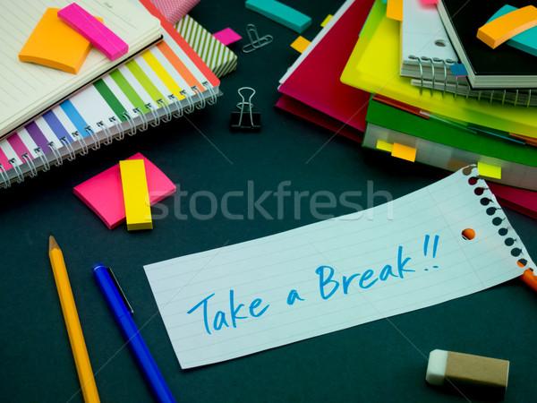 Bericht werken bureau pauze business Stockfoto © user_9323633
