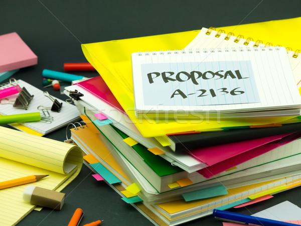 Negócio documentos proposta escritório livro Foto stock © user_9323633