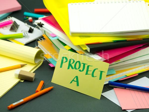 Iş belgeler proje ofis kitap Stok fotoğraf © user_9323633