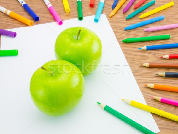 Desenho maçã como frutas legumes Foto stock © user_9323633