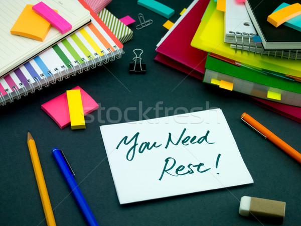 Bericht werken bureau behoefte kantoor school Stockfoto © user_9323633