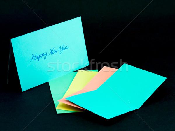 Mensaje tarjeta familia amigos feliz año Foto stock © user_9323633