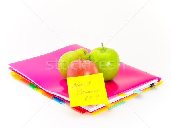 Office Documents and Apples; Need Vitamin C Stock photo © user_9323633