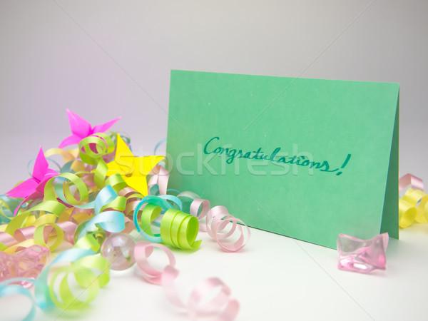 Massagem cartão parabéns mensagem família amigos Foto stock © user_9323633
