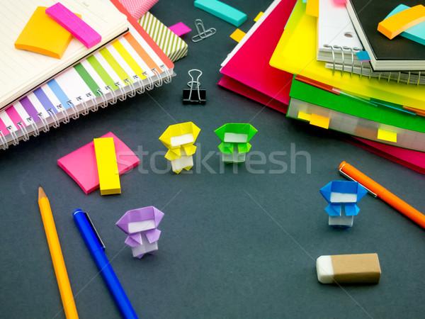 Weinig origami helpen werk bureau kantoor Stockfoto © user_9323633