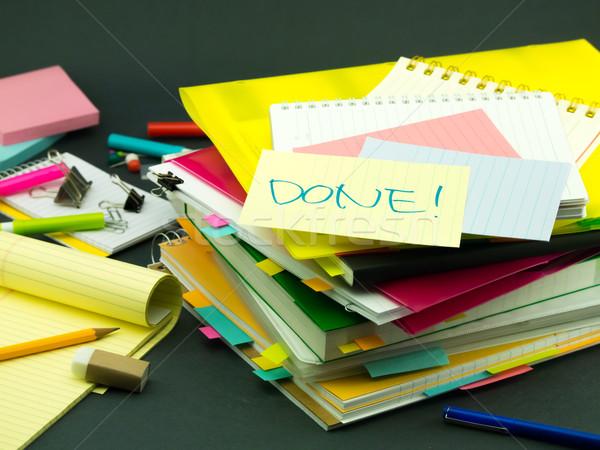 Enorme negócio documentos secretária escritório Foto stock © user_9323633