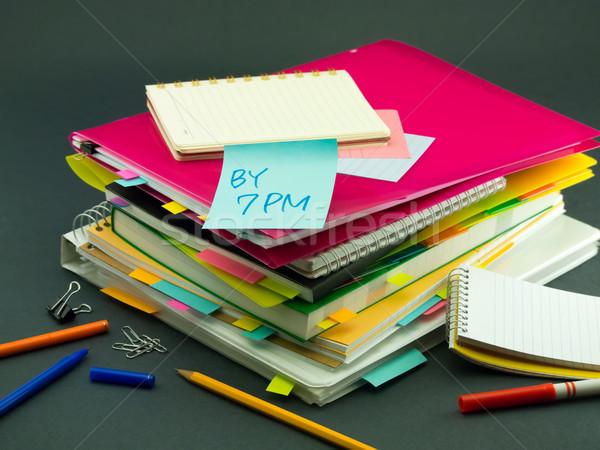 ビジネス 文書 午後 オフィス 図書 ストックフォト © user_9323633