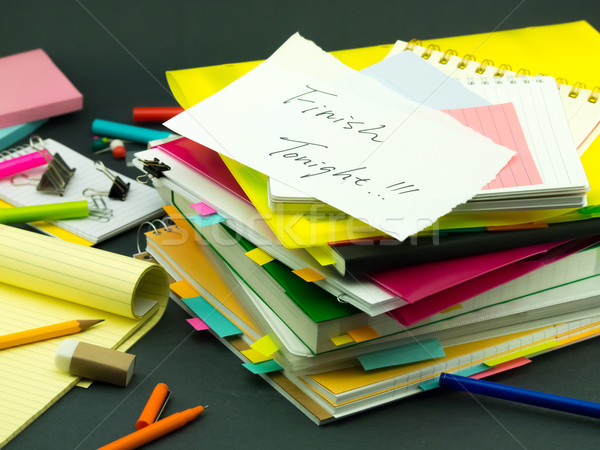 The Pile of Business Documents; Finish Tonight Stock photo © user_9323633