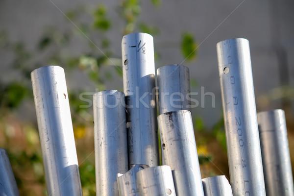 Muitos pipes indústria fábrica industrial Foto stock © user_9323633