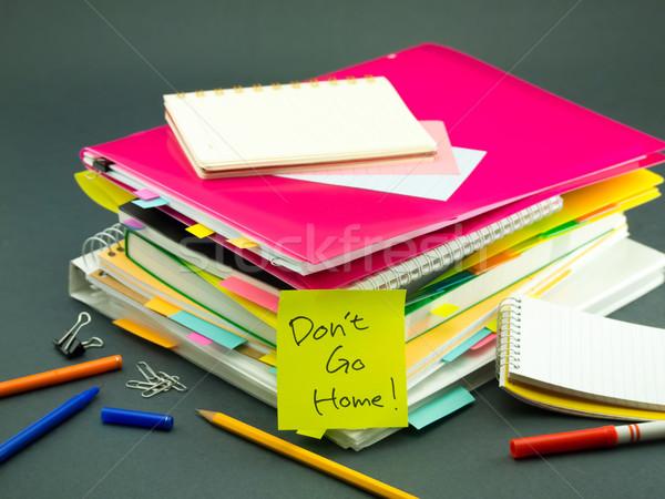 Negócio documentos casa escritório livro Foto stock © user_9323633