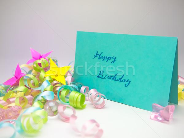 Massagem cartão feliz aniversário mensagem família amigos Foto stock © user_9323633