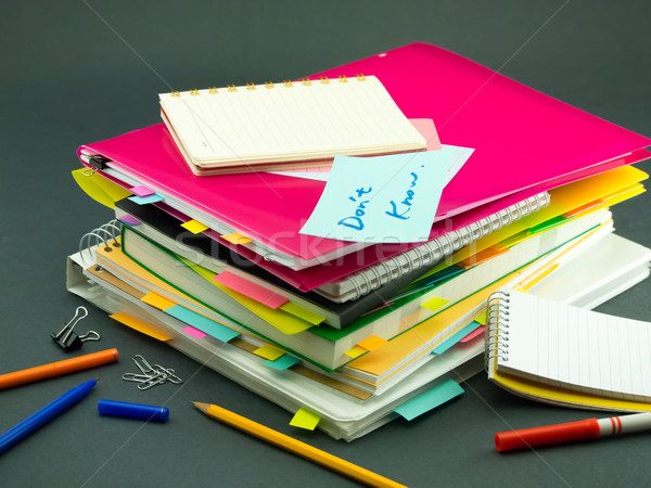 The Pile of Business Documents; Don't Know Stock photo © user_9323633