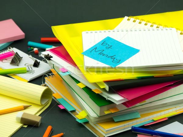 Negócio documentos escritório livro escolas Foto stock © user_9323633