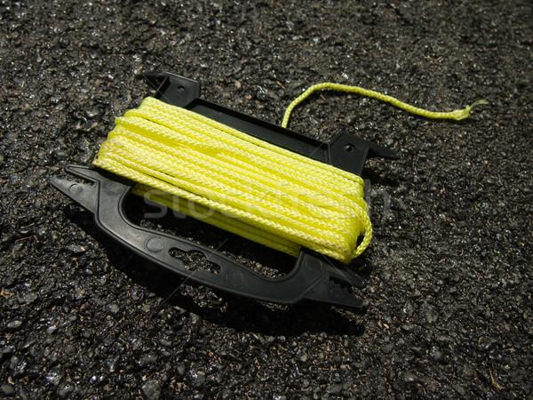 Amarelo corda terreno trabalhar trabalho concreto Foto stock © user_9323633