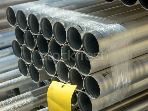 Muitos pipes indústria fábrica Foto stock © user_9323633