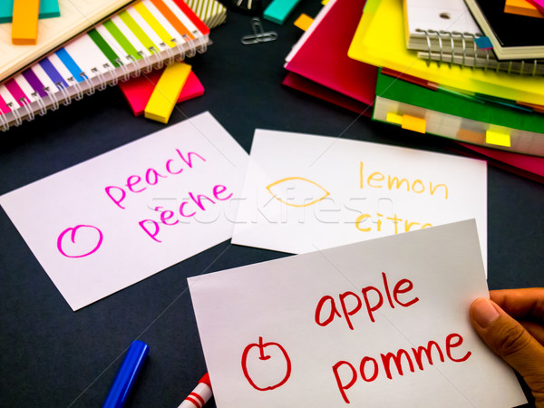 Tanul új nyelv készít eredeti villanás Stock fotó © user_9323633