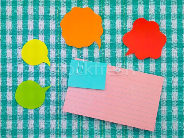 Colorido globos notas verde tejido burbujas Foto stock © user_9323633