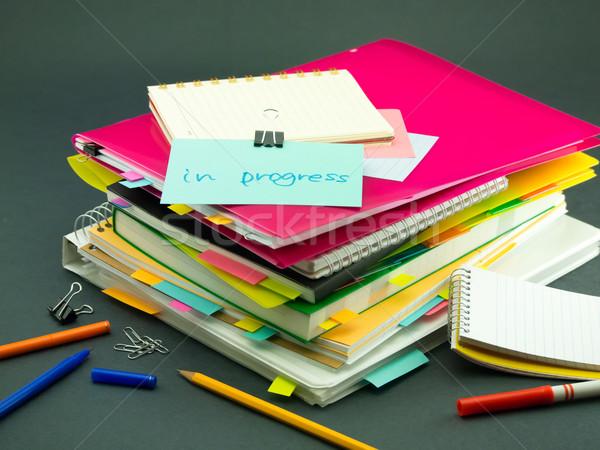 Negócio documentos progresso escritório livro Foto stock © user_9323633