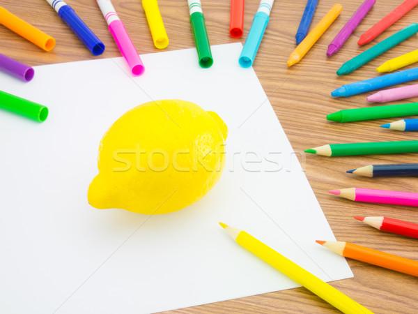 Desenho limão como frutas legumes Foto stock © user_9323633