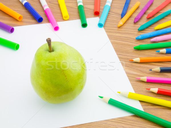 çizim armut gibi meyve sebze Stok fotoğraf © user_9323633