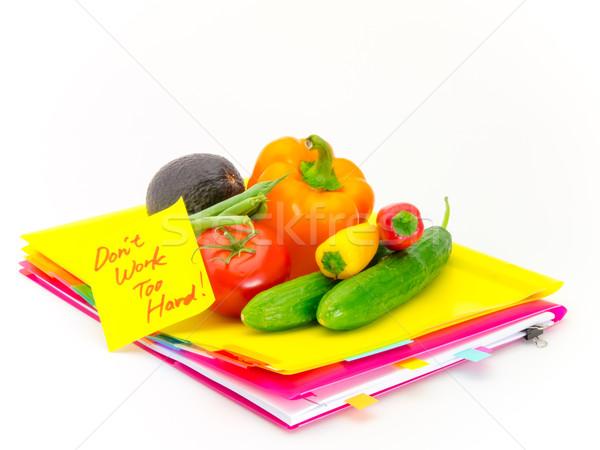 Escritório documentos legumes trabalhar apresentar Foto stock © user_9323633