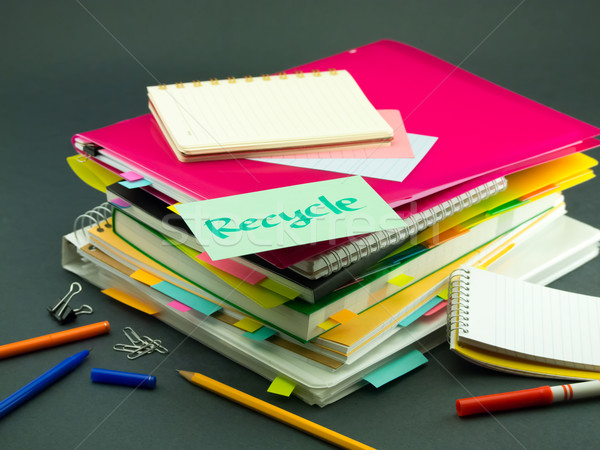 Iş belgeler geri dönüşüm ofis kitap Stok fotoğraf © user_9323633