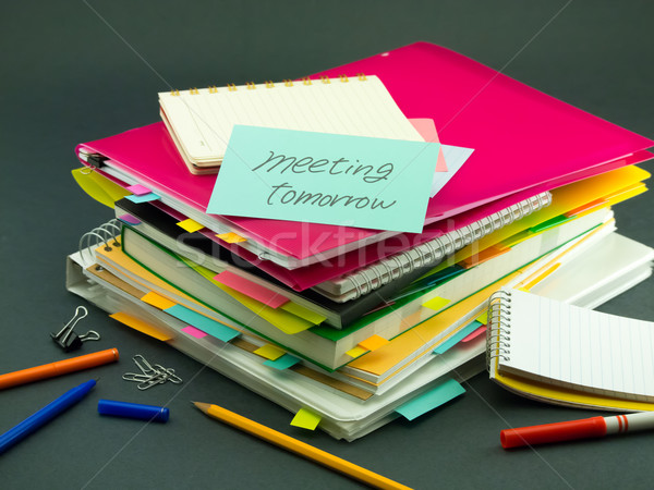 The Pile of Business Documents; Meeting Tomorrow Stock photo © user_9323633