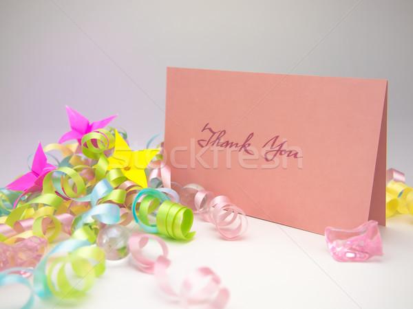 Masaj kart teşekkür ederim mesaj aile arkadaşlar Stok fotoğraf © user_9323633