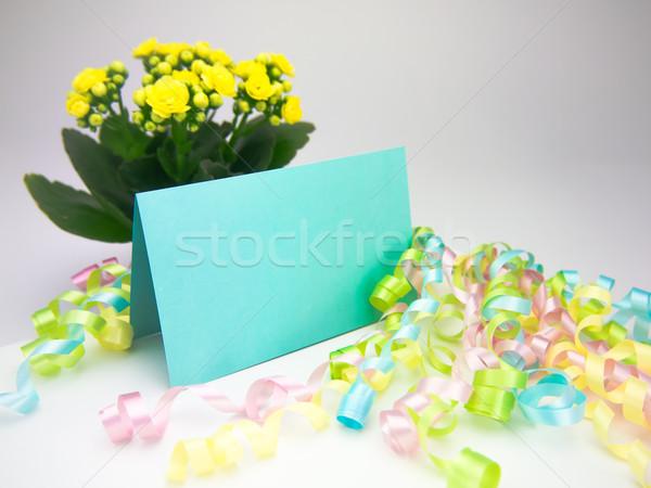 Massagem cartão mensagem família amigos flor Foto stock © user_9323633