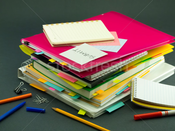 The Pile of Business Documents; Submit Stock photo © user_9323633