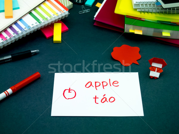 Aprendizagem novo linguagem original flash Foto stock © user_9323633